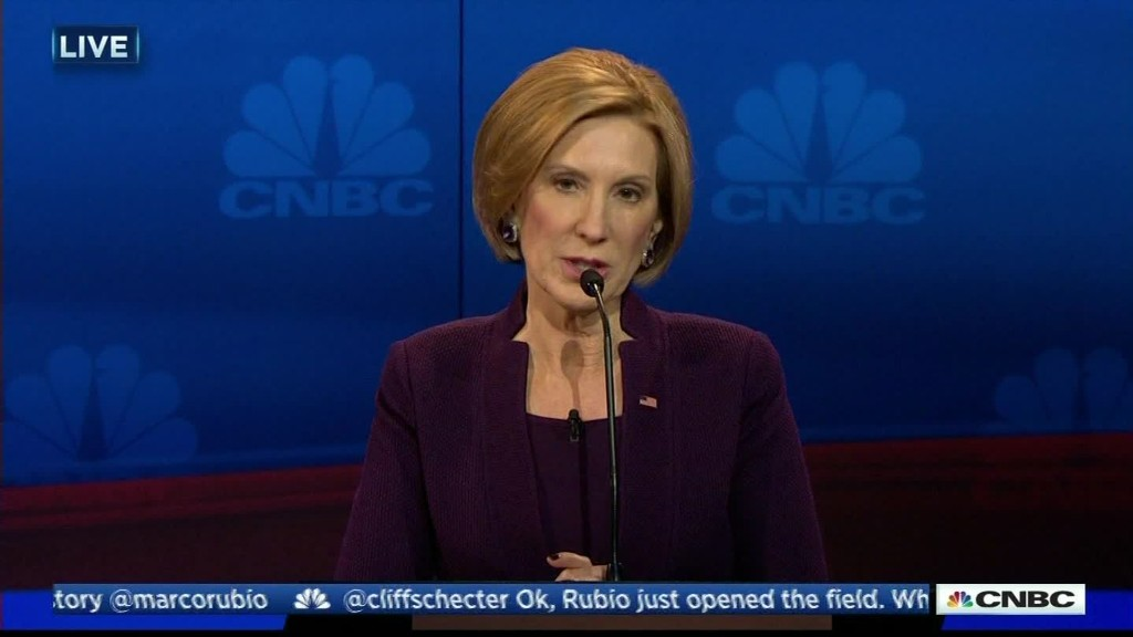 Carly Fiorina: I'm not using wrong data