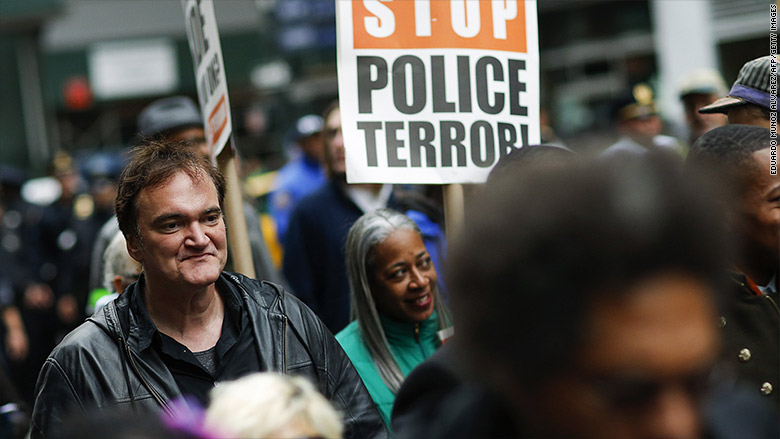 quentin tarantino protests