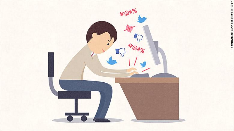 angry social media