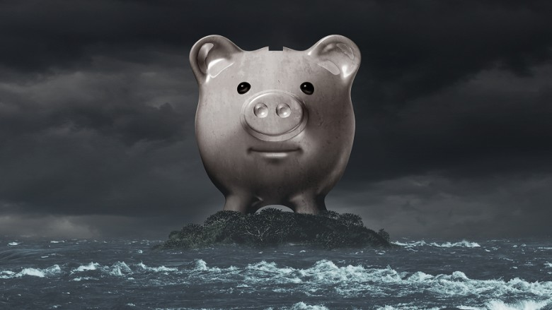 piggy bank financial crisis