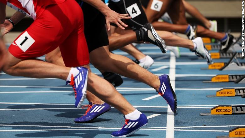 sprinters feet