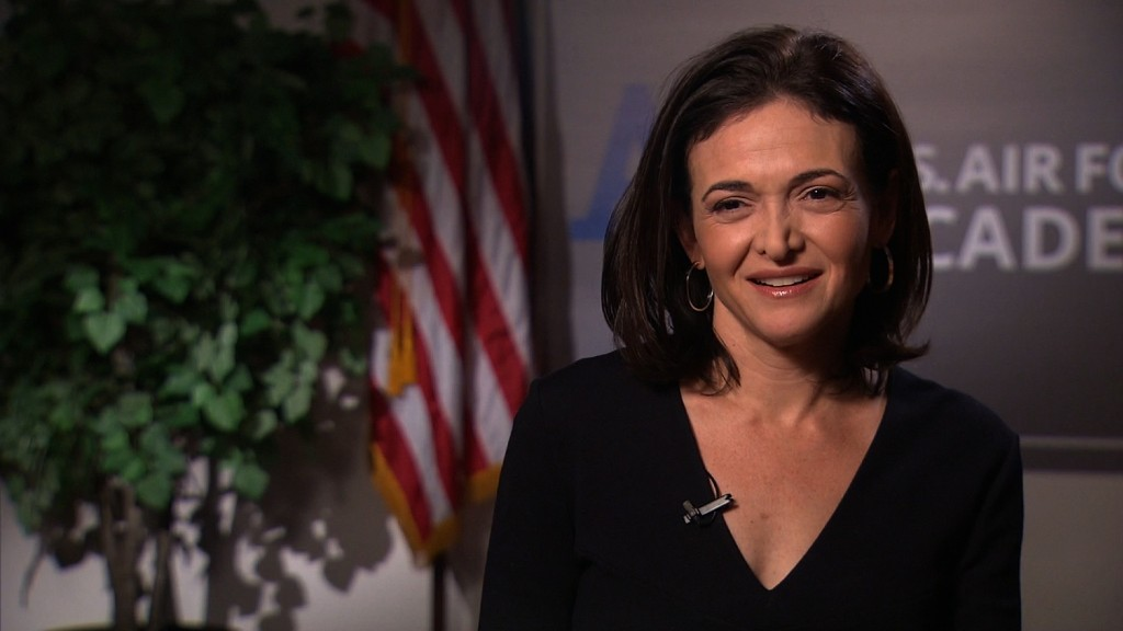 Sheryl Sandberg pushes to end military bias