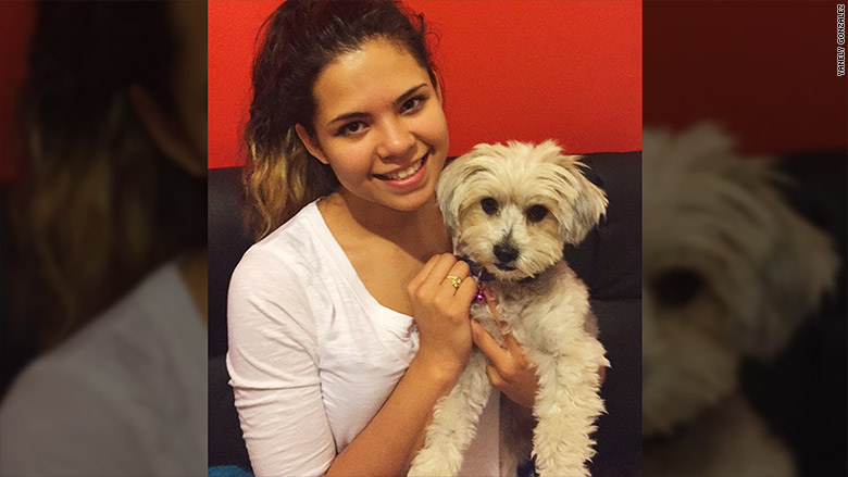 yanely gonzalez with dog