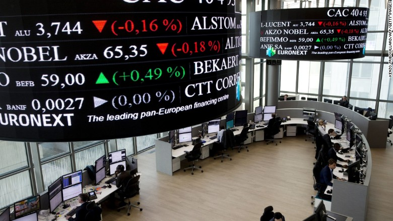 paris attacks french stock markets