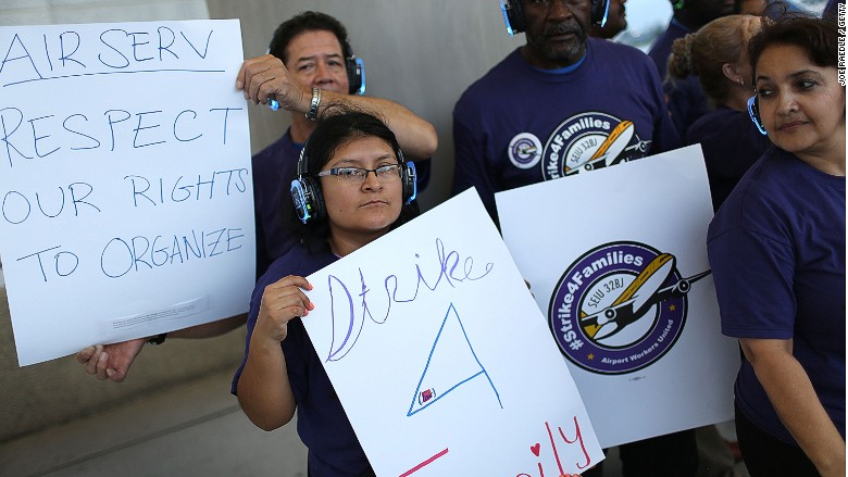 airport workers strike fort lauderdale 1
