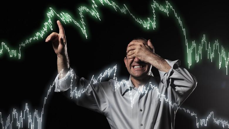 trader investing risky