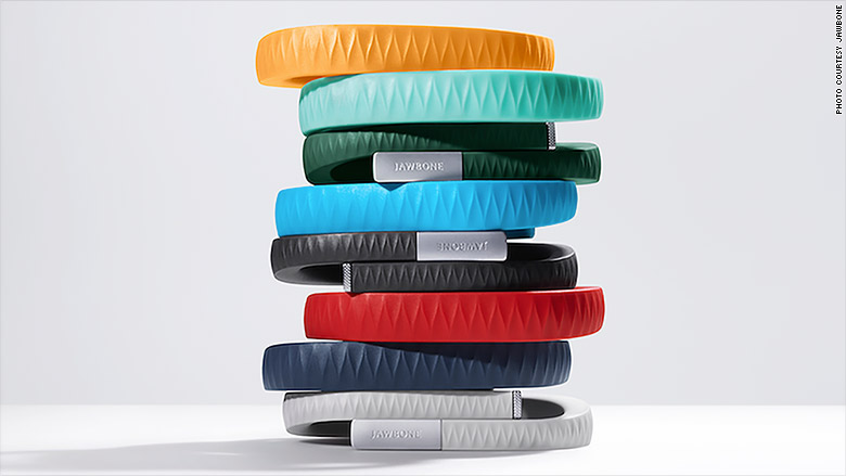 jawbone wearable wristband stack