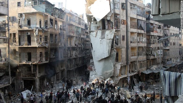 Syria airstrike Aleppo
