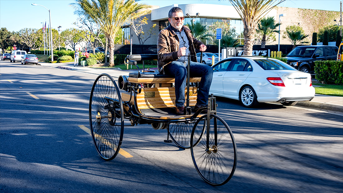 1886 Benz Patent Motorwagen - Driving the world\'s first car - CNNMoney