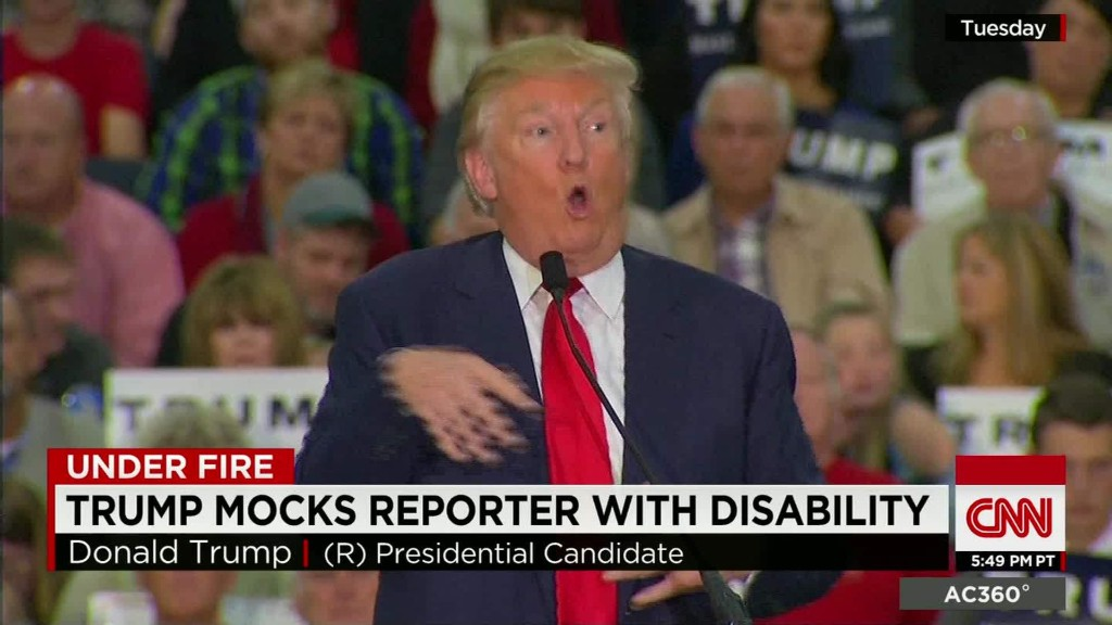 Donald Trump mocks reporter's disability