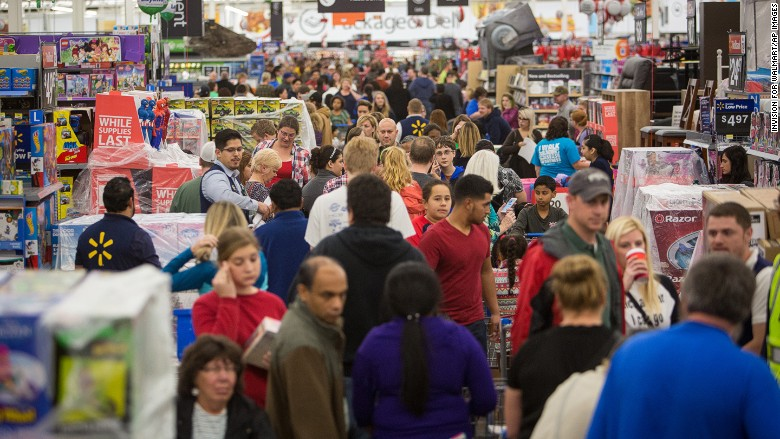 Walmart Rogers Arkansas Black Friday 2015 In Pictures Cnnmoney
