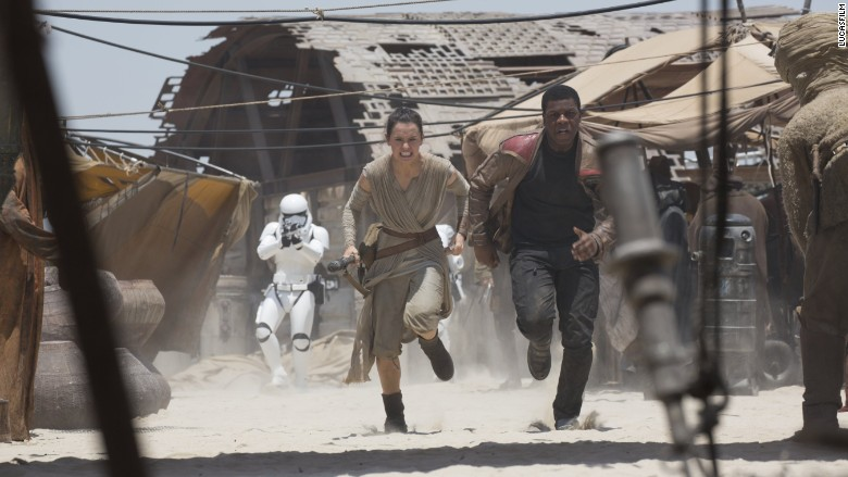 star wars rey finn running