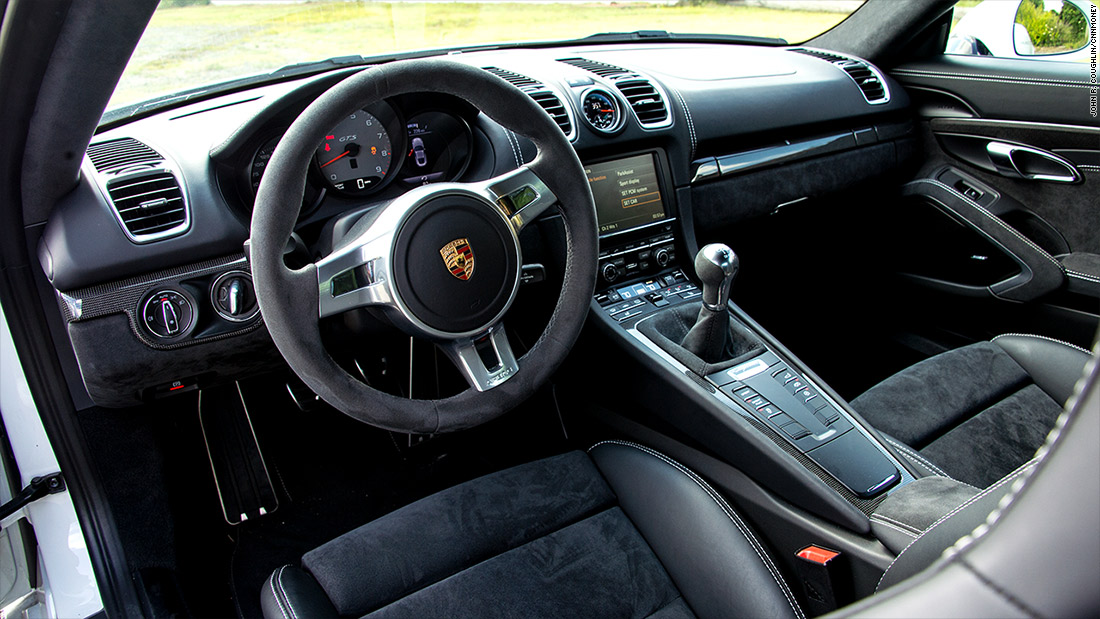 porsche cayman gts interior our favorite sports cars of 2015 cnnmoney. Black Bedroom Furniture Sets. Home Design Ideas