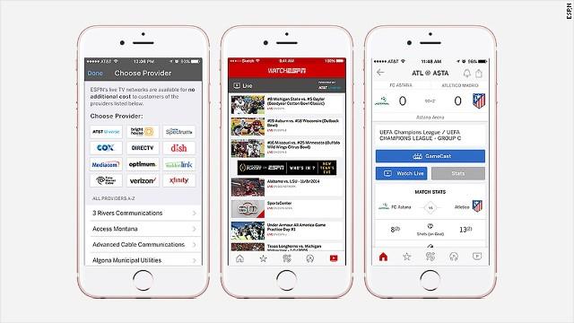 ESPN app makes it easier to live-stream games