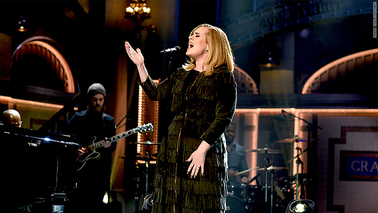 adele snl singing