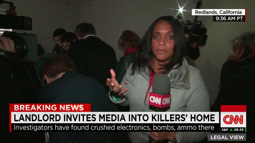 Media swarms San Bernardino shooters' home