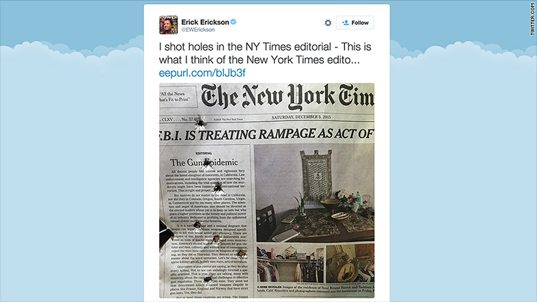 Photo Page: Conservatives Take Shots At New York Times Gun Control