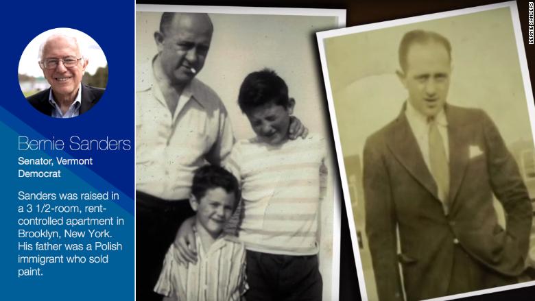 bernie sanders childhood work history