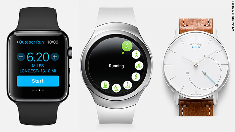 smartwatch fitness screens