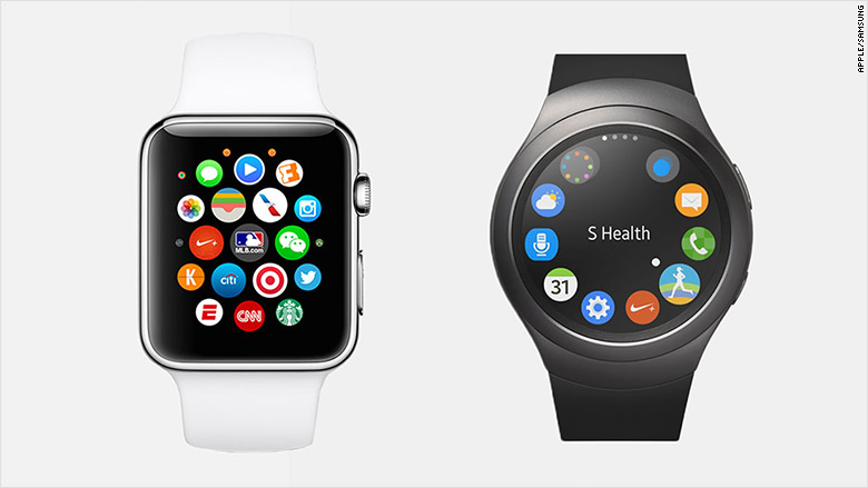 smartwatch apps screens
