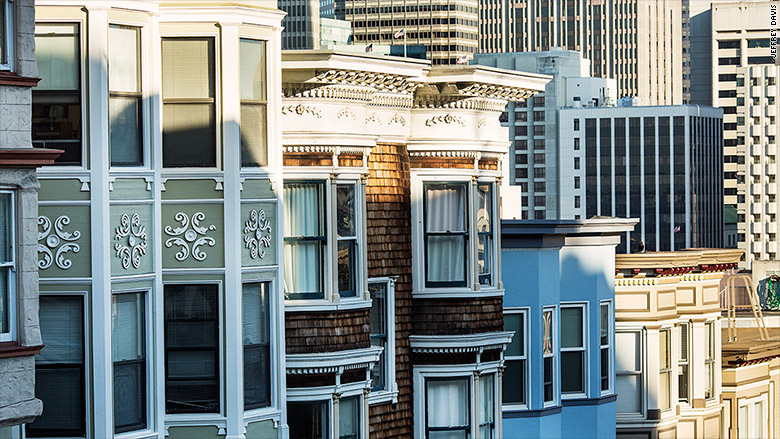homes in San Francisco cityscape