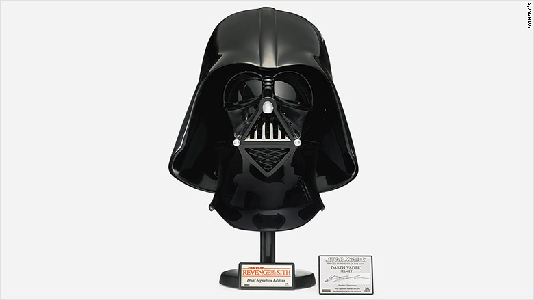 star wars auction vader helmet