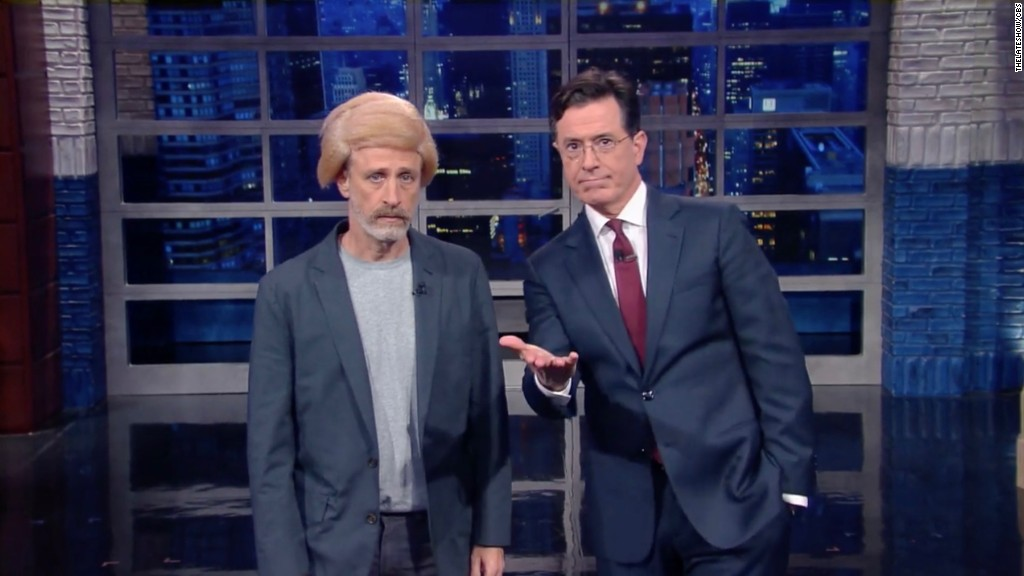 Watch Jon Stewart 'bring the Trump on 'Late Show'