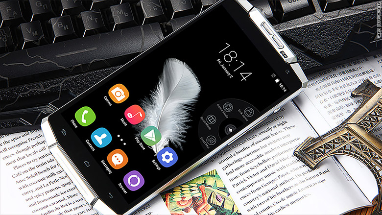 This smartphone's battery can last up to 15 days