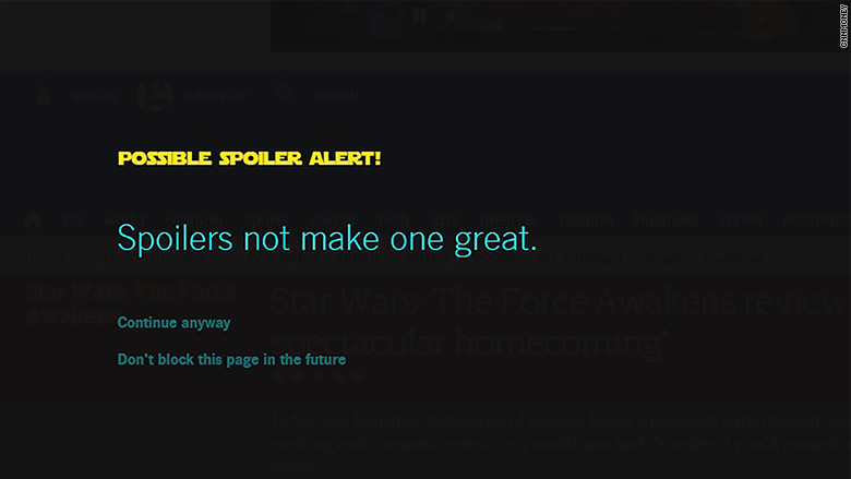 star wars spoiler extension