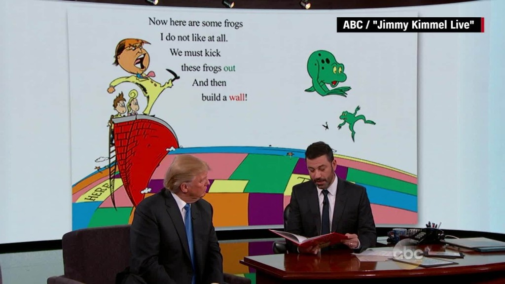 Donald Trump appears on 'Jimmy Kimmel Live'