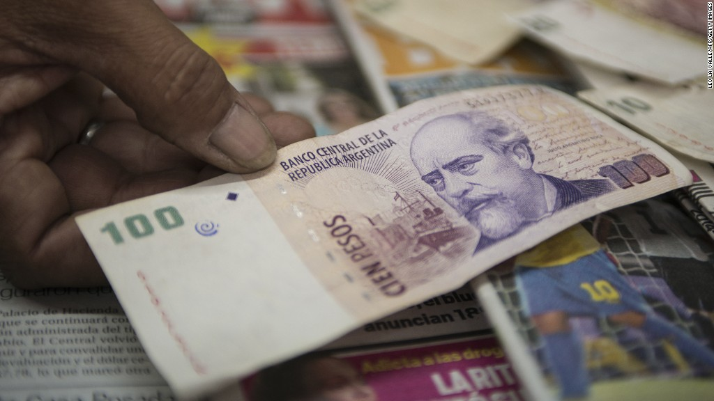 Argentine peso hits record low