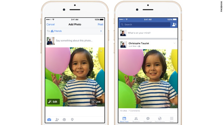 Facebook Apple Live Photos