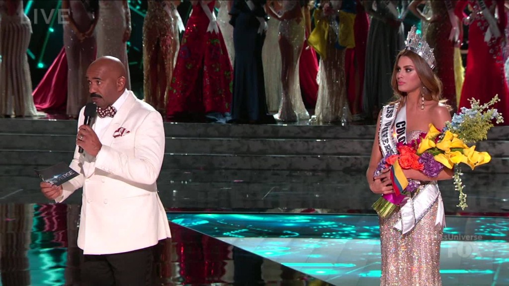 Steve Harvey crowns the wrong Miss Universe 2015