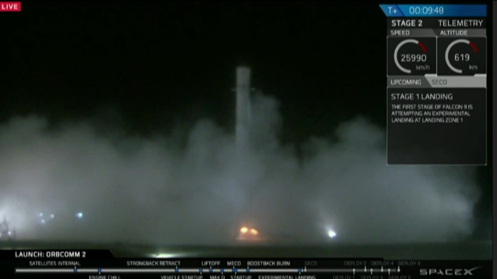 Cheers erupt as SpaceX successfully lands rocket