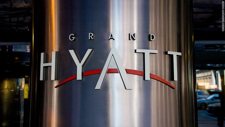 hyatt hotel sign