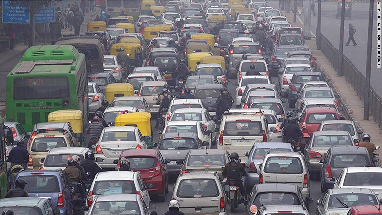 delhi roadside pollution