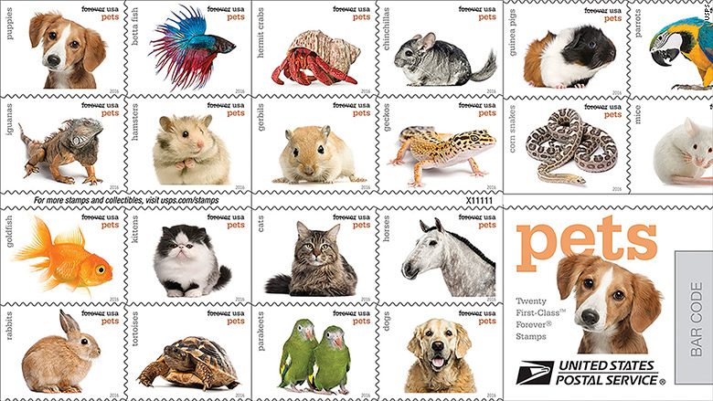 stamps pets
