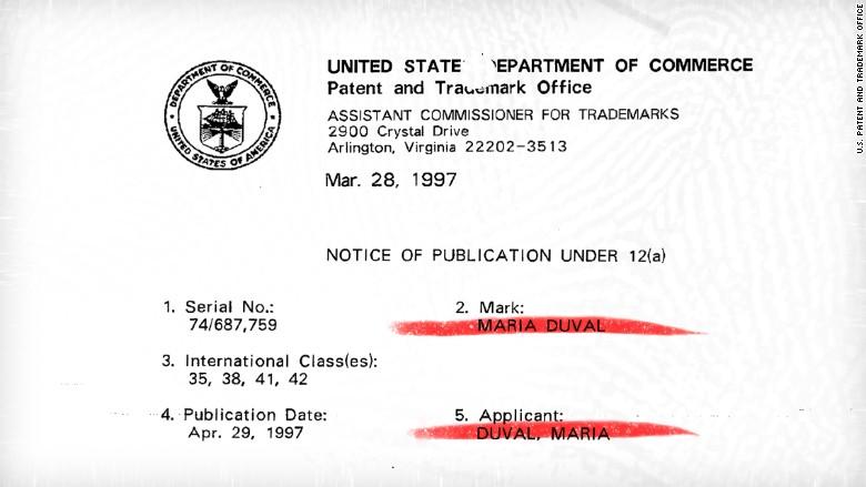 maria duval 2 original trademark
