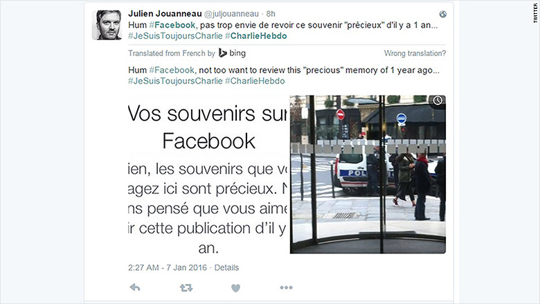charlie hebdo facebook memories tweet 1