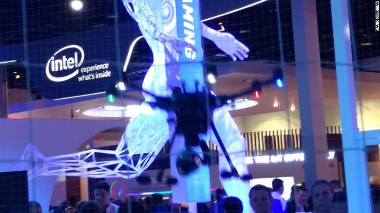 ces 2016 intel drone