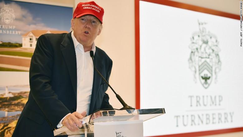 Trump Scotland gold course ban