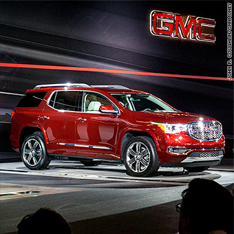 The 2017 Gmc Acadia Was Unveiled At Detroit Auto Show In January