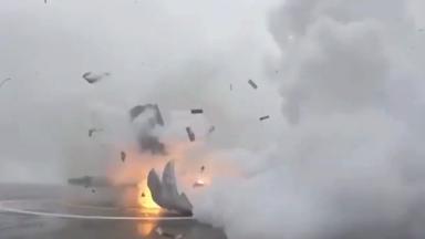 SpaceX rocket explodes on landing