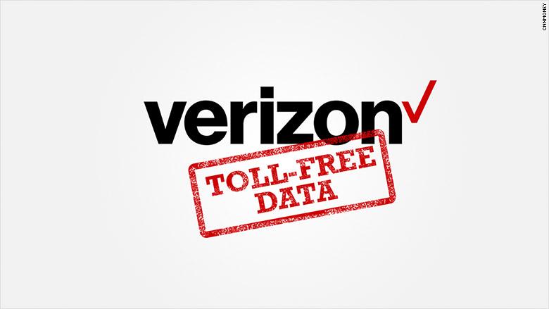 verizon toll free data