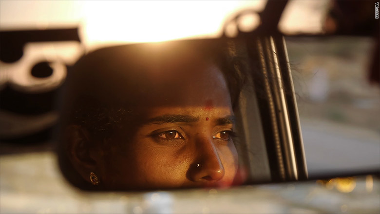 india first female taxi rearview