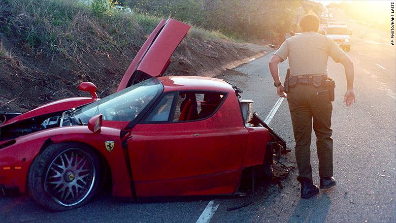 Ferrari Driver Crashes Car