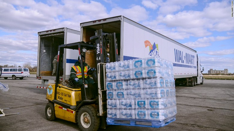 walmart truck bottled water