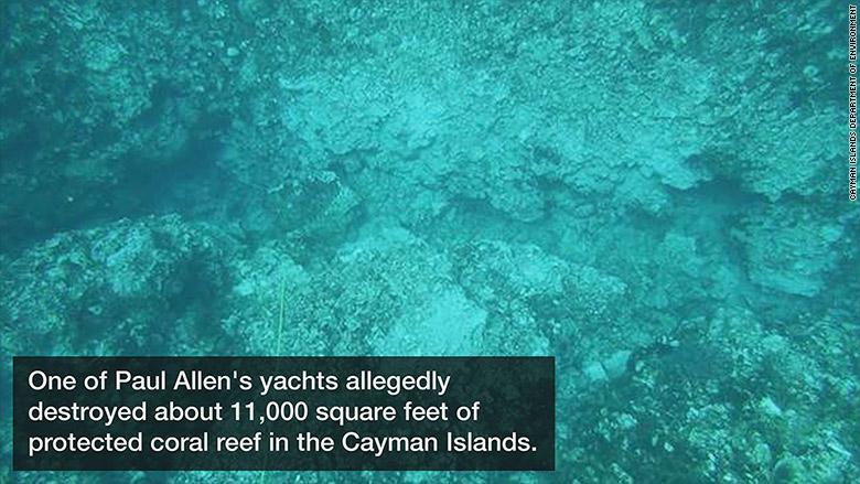 paul allen yachts coral reef