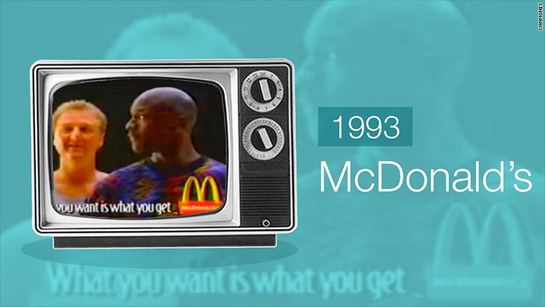 cienie sportowa odzież sportowa niska cena McDonald's: Larry Bird and Michael Jordan - 9 of the best ...