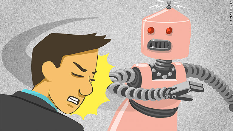 harassing a robot